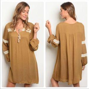 New tan boho dress